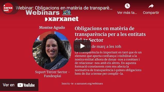 Obligacions en matèria de transparència per a associacions i fundacions